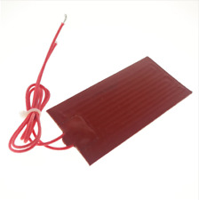 "12v dc 80x100mm 20w Rectangle flexible waterproof silicon Heater Pad for oil ""tan"