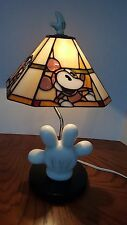 Dale Disney Stained Glass Glove Lamp Tiffany Style Rare Collector Mickey Donald
