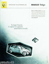 PUBLICITE ADVERTISING 046 2001  Renault la Twingo  Cinetic