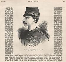 1885 ALFONSO XII  KING OF SPAIN