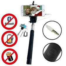 Monopod Selfie Stick Wire Built-in Bluetooth Remote Holder iPhone 6/6s 6/6s plus