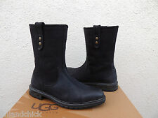 UGG VIGO ITALIAN COLLECTION BLACK SUEDE/ SHEARLING WINTER BOOTS, US 9/ 42 ~ NEW