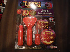 NEW JUMBO PUMPKIN MASTERS Carving Kit - Pattern Book, Saw, Scraper Scoop, Drill