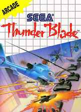 Thunder Blade SEGA Master System Framed Print (Man Cave Picture Poster Game Art)