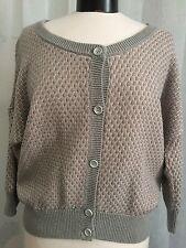 Adidas Neo Gray w/ Pink Sweater Cardigan Size Small
