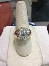 MENS DIAMOND CLUSTER RING 1.00 TCW NO RESERVE
