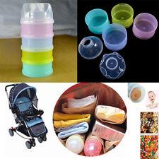 4 Schichte Baby Milchpulver Portionierer Essen Flasche Zubehör für Reise Outdoor