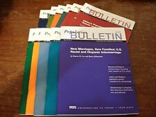 Population Bulletin Back Issues LOT OF 11 Sept 02–June 05