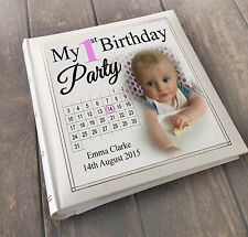 Personalised large luxury guest book photo album, 1st birthday present gift