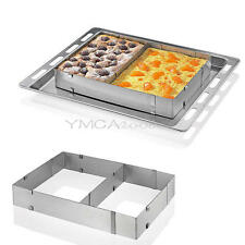 Adjustable Rectangle Stainless Steel Mousse Cake Mold Ring Kitchen Baking Tools