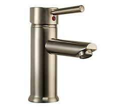 Euro Modern Brushed Nickel Faucet for Bathroom Vanity with Undermount Sink