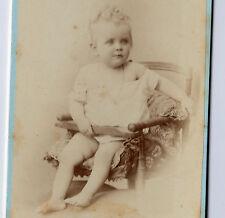 PHOTOGRAPHIE HERMANN circa 1880 ENFANT FILLETTE CHAISE HAUTE