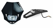 Polisport Enduro L.e.d Tail Light / Guardabarros Trasero + Mmx Faros-Negro Trail Mx
