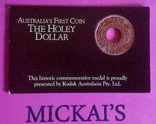 Historic Commemorative medal of the NSW holey dollar coin from KODAK