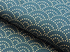 Japanese Fabric_Cotton_Peacock blue,Seigaiha_Half Yard,#m004