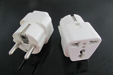 2X Canada American USA to European Schuko Outlet Plug Travel Adapter Converter