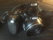 Mint Condition Nikon COOLPIX - L120 - 14.1MP - 21X Zoom - Black Digital Camera