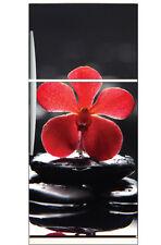Stickers frigo frigidaire Orchidée rouge 70x170cm réf 6204