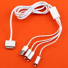 USB TV RCA Video Composite AV Cable to Ipod Adapter for iPad 2 iPhone 4 3GS LC