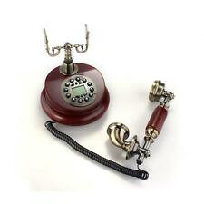 Retro Vintage Antique Style Resin Home Desk Corded Telephone Phone