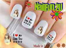 "RTG Set#151 DOG BREED ""I Love my Shih Tzu"" WaterSlide Decals Nail Art Transfers"