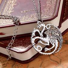 Game of Thrones Targaryen A Song of Ice and feu Charm collier pendentif