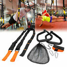 SUSPENSION TRAINER STRAPS Home Gym Workout System Crossfit MMA With Door Anchor