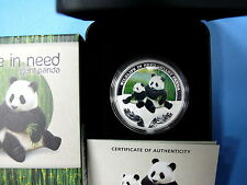 Tuvalu 1 Dollar 2011 Wildlife In Need - Giant Panda 1 Oz Silver Proof