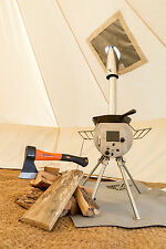 Silver-Gem Portable Woodburner Stove Bell Tent Camping Outdoors Stainless steel