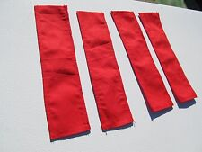 DCP 1/64 SCALE CLOTH TARP TO FIT GRAIN TRAILER RED (SET OF 4)