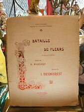 Partition Bataille de fleurs I Desmarest Music Sheet