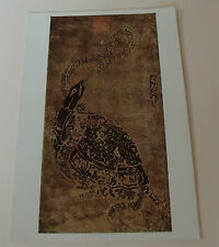 Snake and Tortoise Stone Rubbing POSTCARD Chinese Painting Wu Tao-Tzu NEW T'ang