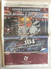 UC. SAMPDORIA VS. GENOA DERBY CALCIO GENOVA DELLA LANTERNA INSERTO SPECIALE 2011