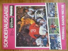 FU35 FUWO 87/88 FUßBALLWOCHE deutsches Sportecho DDR OBERLIGA DFV Sport Fußball