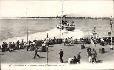 Southsea. Steamer Leaving Clarence Pier # 13 by LL / Levy. Black & White.