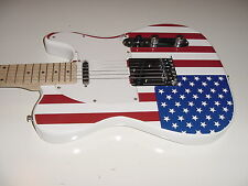 New  US Flag T Style 6 String  Electric Guitar Maple Fret Board with Gig Bag