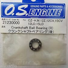 O.S. Engine 21230000 Crankshaft Ball Bearing (R) FOr CZ-H, M, 12Z, 12CV, 15CV