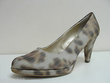 Peter Kaiser Verone taupe animal print court shoes UK 6/EU 39, RRP £105 BNWB