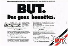 PUBLICITE ADVERSTISING   1981   MAGASINS BUT   éléctroménager meubles ( 2 pages)