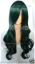 Hot Sell! New Long Dark Green DEAD MASTER Cosplay Curly Wig ST904