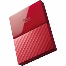 WESTERN DIGITAL MY PASSPORT HDD 625MB/s 1TB USB 3.0 RED EXTERNAL HARD DRIVE st