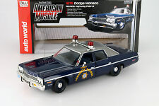 Dodge Monaco Nevada Highway Patrol Police Baujahr 1975 1:18 autoworld