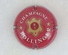 capsule champagne BOLLINGER lettres fines n°26b bordeaux or foncé