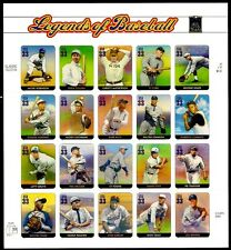 2000 - LEGENDS OF BASEBALL - #3408 Mint -MNH- Sheet of 20 Postage Stamps