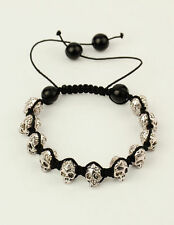 1pc Fashion Tibetan Style skull Beads and Glass Beads Shamballa Bracelets Gift
