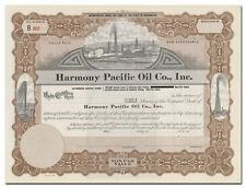 Harmony Pacific Oil Co., Inc. Stock Certificate