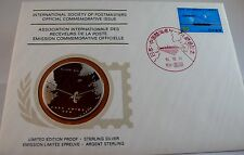 INAUGURATION OF JAPAN/CHINA CABLE, JAPAN, Postmasters STERLING SILVER COIN, FDC