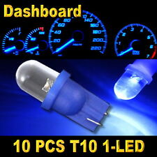 10x Blue T10 W5W 194 168 2825 1-LED Wedge Light Bulb Car Dashboard Side Lamp New