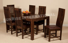 Mandira Wooden Dining table with 6 Cushion chairs furniture set !