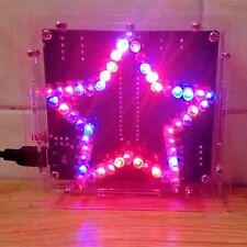 DIY 51 SCM Coloré Étoile LED Électronique Module Board Kit + Boîtier 100x100x28